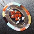 ズニ Beverly・Etsate 盛り上がりインレイ マッドヘッド ピンブローチ&TOP