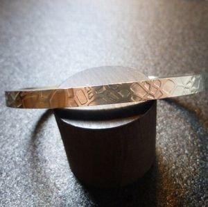 画像1: ラグーナ Chris・Pruitt スターリングシルバー テクスチャーワーク バングル約15・5〜16・5cm用