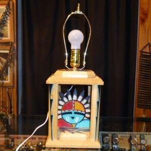 画像1: ズニ ペイント ウッド製ディスクランプ