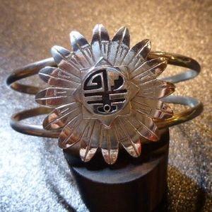 画像1: ホピ Marthus・Koinva オーバレイ 3Dサンフェイス バングル約15・5〜17cm用