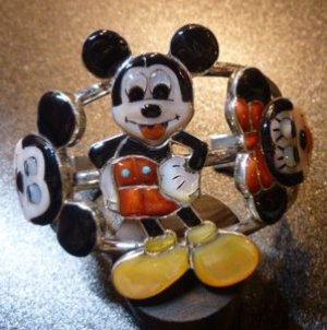 画像1: ズニ Don・Dewa インレイ 全身ミッキーマウス&フェイスミッキー&ミニー バングル15〜16cm用