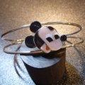 ズニ Paula・Leekity インレイ スモールフェイスミッキーマウス バングル約14・5〜16cm用