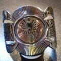 ホピ Jason・Takala オーバレイ シルバー&14Kゴールドメイズ ケトー型バングル約16〜17cm用