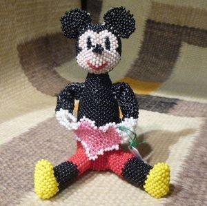 画像1: ズニ Hollie・Booqua ビーズワーク ミッキーマウス ドール
