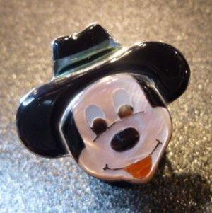 画像1: ズニ Don・Dewa インレイ フェイス カウボーイミッキーマウス リング14号