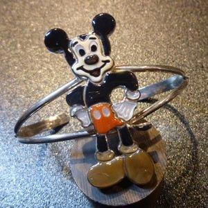 画像1: ズニ Andrea・Lonjose インレイ 全身ミッキーマウス バングル約15〜16・5cm用