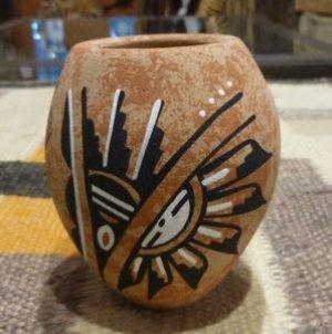 画像1: Jamezプエブロ ハンドペイント ポッテリー(陶器)