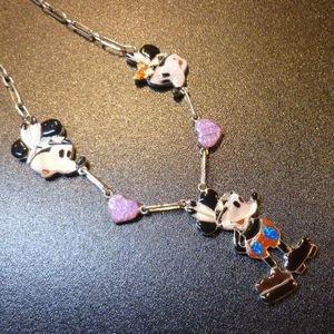 画像1: ズニ Don・Dewa インレイ 当店限定 インディアンチーフミッキーマウス&フェイスミッキー&ミニー TOPネックレス約50cm