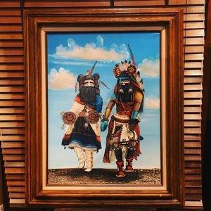 画像1: ズニ Duane・Dishta カチーナダンサー オリジナル油絵ペイント