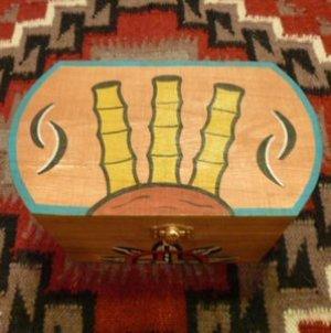 画像1: ホピ Ryan・Yavia ペイント ウッド製小物入れBOX